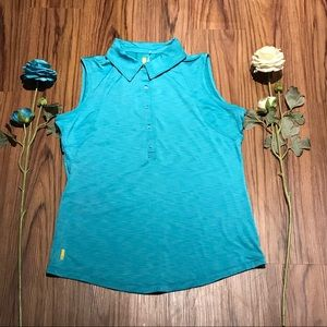 Lole Women's Bluegreen Sleeveless Top Size M